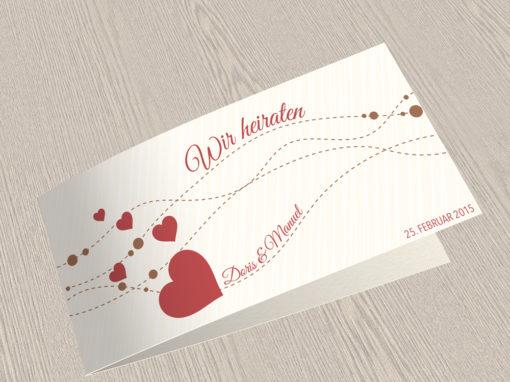 Hochzeitskarte 2